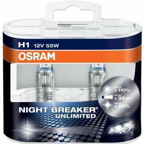 Лампы OSRAM Н1 NIGHT BREAKER LIMITED 64150NBU-02B +110%