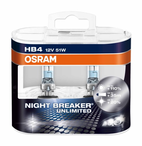 Лампа OSRAM HB4 NIGHT BREAKER LIMITED 9006NBU +110%