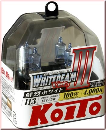 ЛАМПЫ KOITO 4000K H3 12V 55W=100W