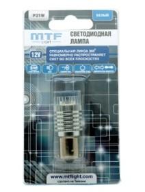 Светодиодная лампа MTF 1контактная линза 360, P21W белая
