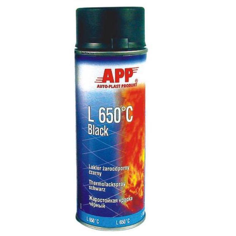 Эмаль термостойкая APP L 650 C Black черная 400мл 210431