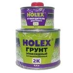 Грунт эпоксидный антикоррозионный 2К 4:1 светло-серый 1,0л+0,25л отверд HOLEX HAS-97913