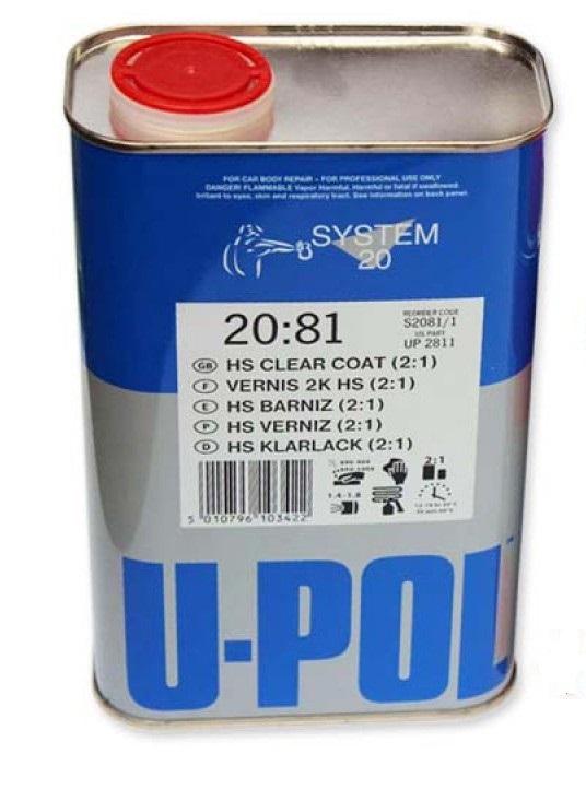 Лак прозрачный HS 2:1 (без отвердителя) (1,0) U-POL 2081/1
