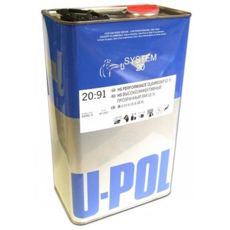 Лак акриловый HS 2:1 (без отвердителя) (5,0) U-POL 2091/5