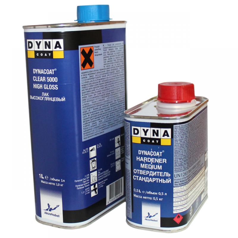 Лак DYNA Clear 5000 HS высокоглянцевый (1л) + Отвердитель Medium (0,5 л) 373667/374482/541229