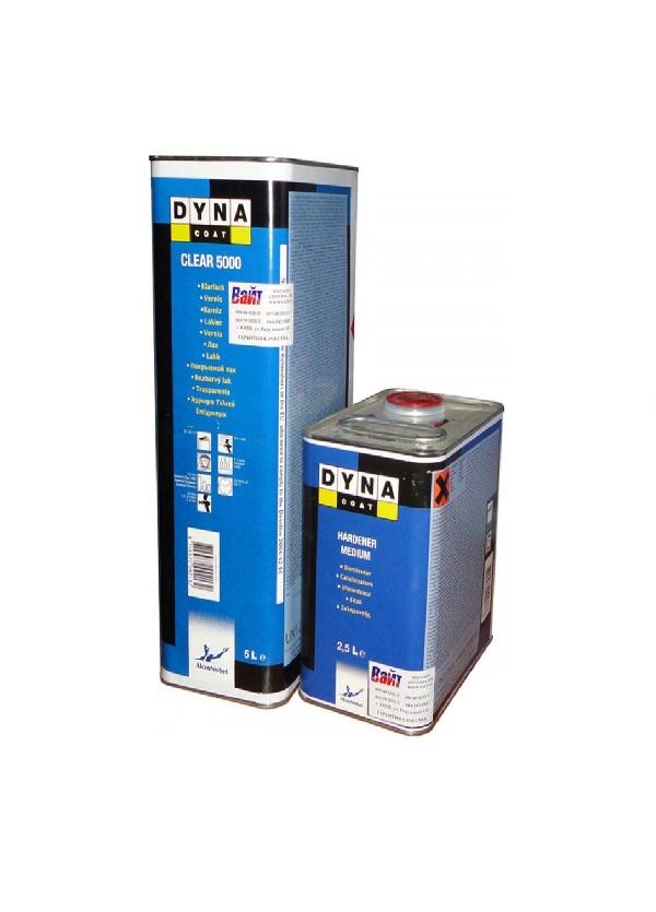 Лак DYNA Clear 5000 HS высокоглянцевый (5л) + Отвердитель Medium (2,5 л) 373668/374484